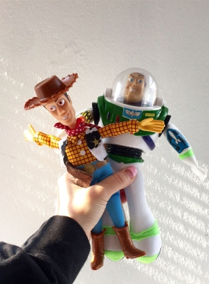 woody&buzz doll